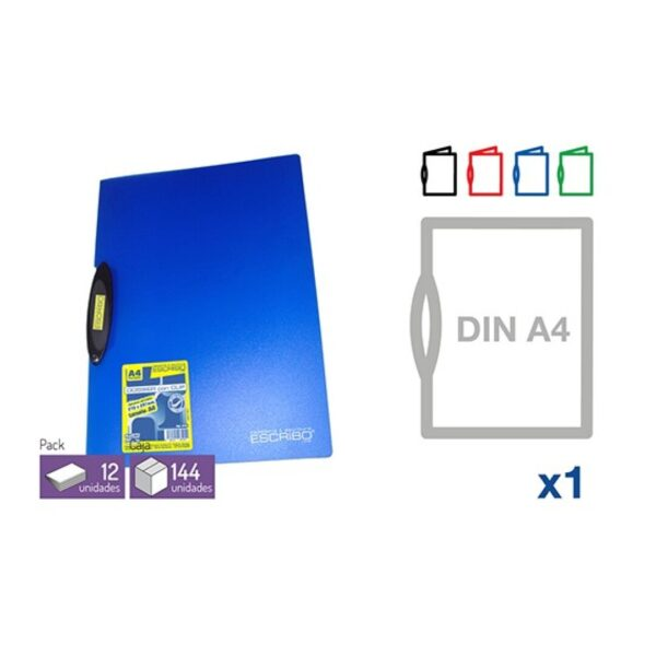 Dossier Pinza - DIN-A4 Colores opacos