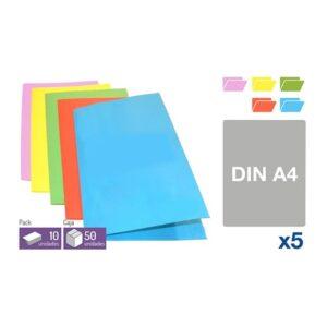 5 subcarpetas Carton - DIN-A4 Colores surtidos