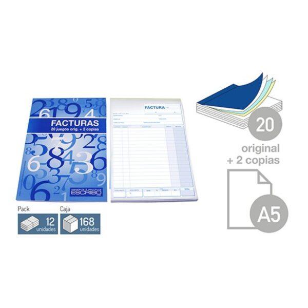 Talonario Factura - DIN-A5 20 juegos 2 copias