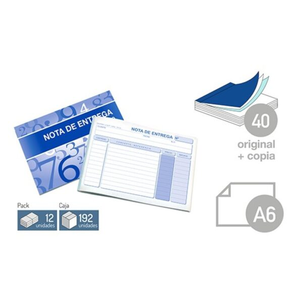 Talonario Nota de entrega-DIN-A6 40 juegos 1 copia