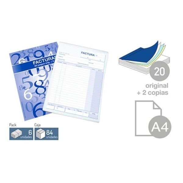 Talonario Factura - DIN-A4 20 juegos 2 copias