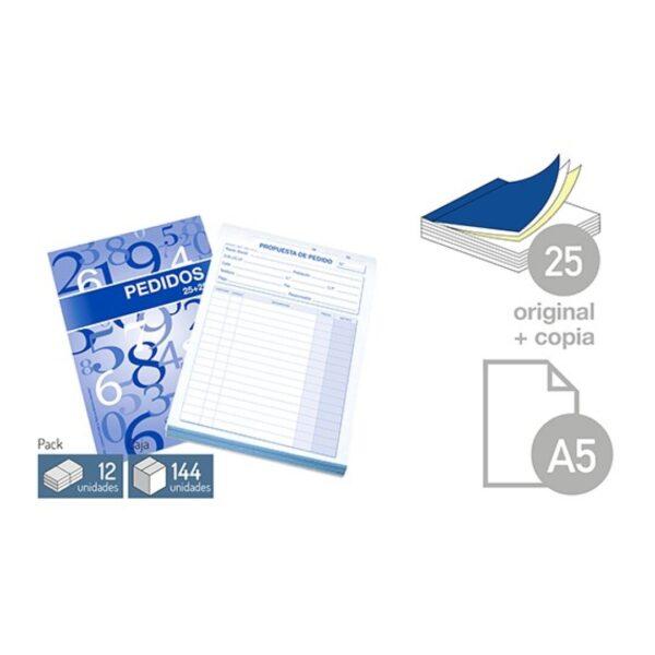 Talonario Pedidos - DIN-A5 25 juegos 1 copia