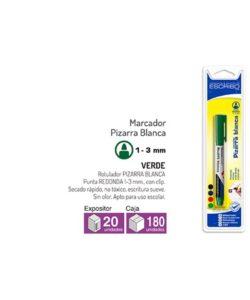 Blister Rotulador Pizarra Blanca - Verde Punta Redonda 1-3mm