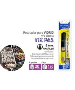 Blíster Rotulador TIZ PAS Amarillo